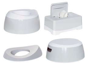 Tréningová sada na toaletu LUMA Light Grey