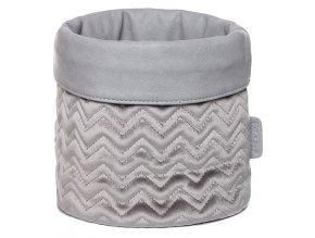 Trendy šedý košík na kojenecké potřeby od Bébé-Jou Fabulous Griffin Grey