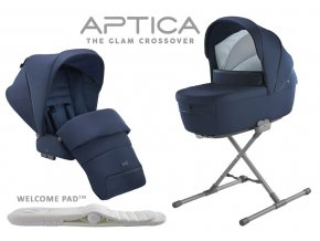 Modrá hluboká vanička a sedačka kočárku APTICA Portland Blue 2020 SET 2v1