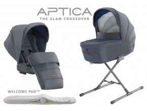 Jeansová kombinace hluboké vaničky a sportovního kočárku APTICA Tailor Denim 2020 SET 2v1