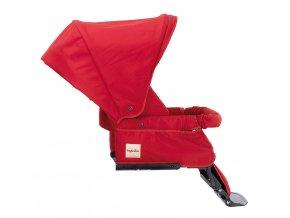Červená sportovní sedačka Inglesina Extracombi je kompatibilní se všemi podvozky Inglesina