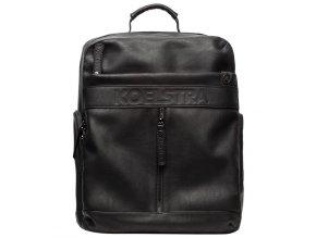 Černý přebalovací batoh BERGEN BLACK FRONT