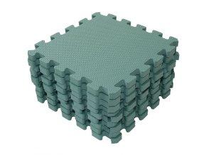 1,4 cm vysoké Zelené hrací pěnové puzzle Babydan 1000-51 Foam mat by BabyDan