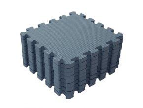 Šedomodré dětské pěnové puzzle na podlahu i na hraní 1000 31 Foam mat by BabyDan