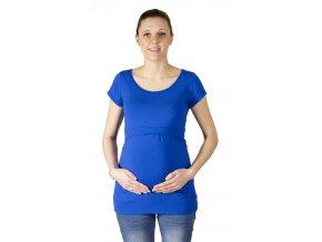 kojící a Těhotenské tričko Rialto Denisa, kobalt modrá 0442 (Dámská velikost 36)