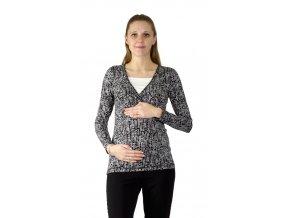 Těhotenské a kojící tričko Rialto Devin, šedá s puntíky 0611 (Dámská velikost 34)