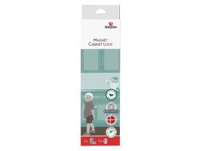 dětská pojiska na magnet na skříňky a zásuvky8574 BabyDan Magnet Cabinet Lock Box