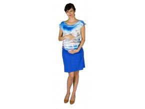 Těhotenská sukně Rialto Braine kobalt modrá 0442