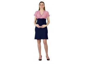 Těhotenské šaty Rialto LacArollin pruhované 0610 (Dámská velikost 36)
