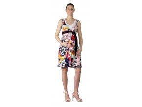 Těhotenské a kojící šaty Rialto Laarne pestré vzory 0630 (Dámská velikost 36)