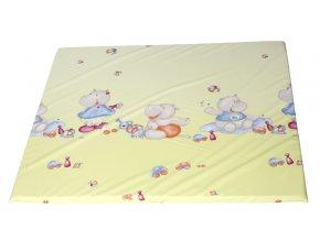 Prostorná přebalovací podložka se vzorem veselých hrošíků