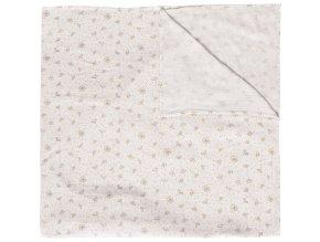 Dětská Mušelínová plenka 110x110 cm Fabulous Wish Grey z bambusu a bavlny