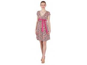 Těhotenské a kojící šaty Rialto Larochette růžový puntík 0257