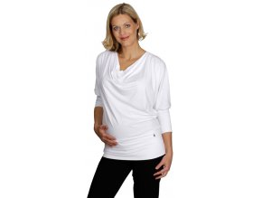 Těhotenské tričko Rialto River bílé 0312