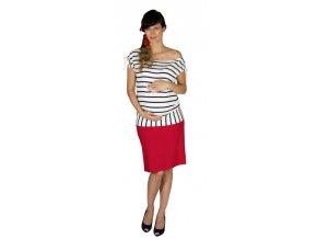 Těhotenská sukně Rialto Braine červená 0441