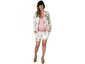 Letní těhotenský kostýmek Rialto s květy 0487