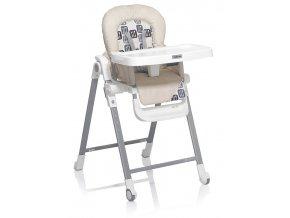 Gusto ECR vysoká židlička v kromové barvě omyvatelná, skládací do balíčku