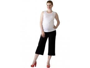 Těhotenské 3/4 kalhoty Rialto Verghia lněné černé 01245