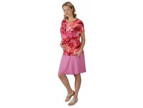 Těhotenské tričko Rialto Court červený potisk 0295 (Dámská velikost 36)