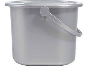 stříbrný kyblík na plenky s víkem