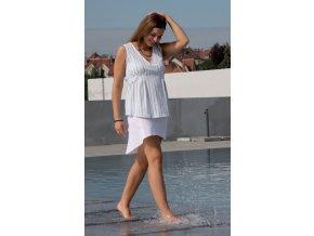 Těhotenská halenka Rialto Bavigne modrý proužek 0218