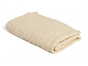 Pletená deka bavlna,béžová,romantik, Rialto Baby