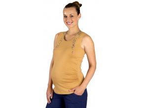 Těhotenské tílko Rialto Castirla okrové 0072