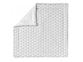 hrací matrace šedá bavlněná 100x100 cm  6314 2920 p (300)