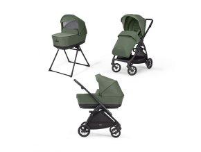 dvojkombinace lehky podvozek stojan na doma polohovatelná sportovní sedačka držák pití nánožník zelená 2v12v1 ELECTA TRIBECA GREEN