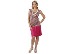 Těhotenské a kojící tričko Rialto Dery růžový puntík 0257 (Dámská velikost 36)