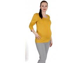 Těhotenské tričko Rialto Ruten žluté 0423 (Dámská velikost 36)