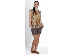 Těhotenské tričko Rialto Clery oranžové květy 0436 (Dámská velikost 36)