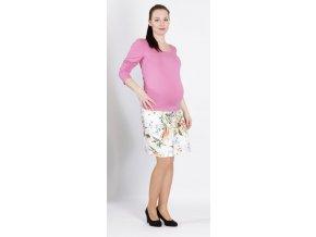 Těhotenské tričko Rialto Ruten růžové 0360 (Dámská velikost 36)