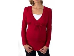 Těhotenské a kojící tričko Rialto Daun červené 0441 (Dámská velikost 34)
