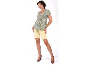 Těhotenské tričko Rialto Corbion tyrkysový puntík 0258 (Dámská velikost 36)