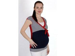 Těhotenské a kojicí tričko Rialto Dery červené 0441 (Dámská velikost 36)