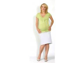 Těhotenské a kojicí tričko Rialto Dison zelené 0299 (Dámská velikost 42)