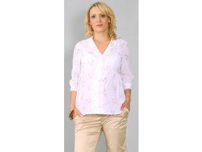Těhotenská košilová halenka z příjemné lehké bavlny s jemnou výšivkou.
