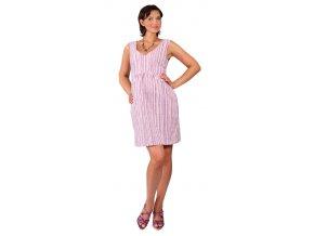 Těhotenské šaty Rialto Loker fialové pruhy 0259 (Dámská velikost 38)
