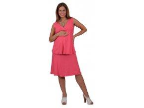 Těhotenská halenka Rialto Beiler lněná Růžová 01243