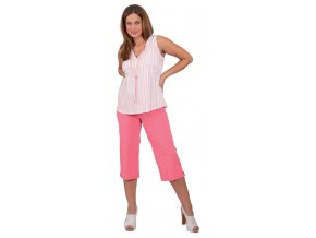 Těhotenská halenka Rialto Bavigne růžový proužek 0216