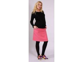 Těhotenské tričko Rialto RAnsT černé 0174 (Dámská velikost 36)