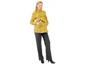 Těhotenský kabátek Rialto Molain - žlutá 0143