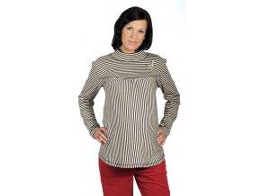 Těhotenské tričko Rialto Remy béžovo-hnědé 0159 (Dámská velikost 36)