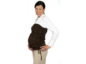 Těhotenský břišní pás z velmi příjemného a efektního materiálu.