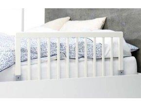 Zábrana k posteli dřevěná white 45x90cm