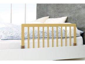Zábrana k posteli dřevěná přírodní 45x90cm