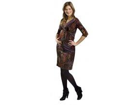 Teplejší těhotenské a kojící šaty Rialto Lens