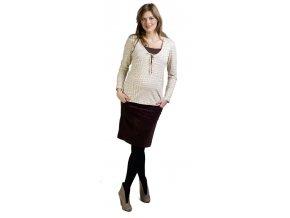 Těhotenské a kojicí tričko Rialto Dercy 7870 (Dámská velikost 36)