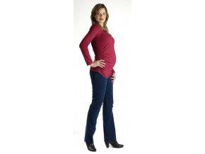 Těhotenské tričko Rialto Roupy - vínové 0225 (Dámská velikost 36)